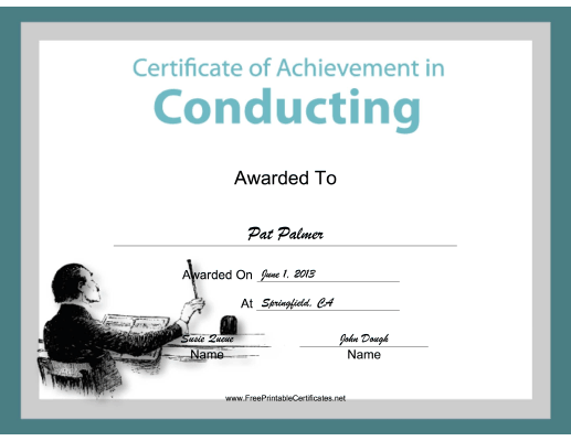 Conducting Instrumental Music certificate