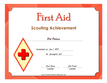 First Aid Level 3 Badge certificate