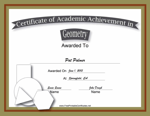 Geometry Academic certificate