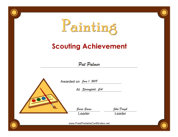 Painting Badge certificate