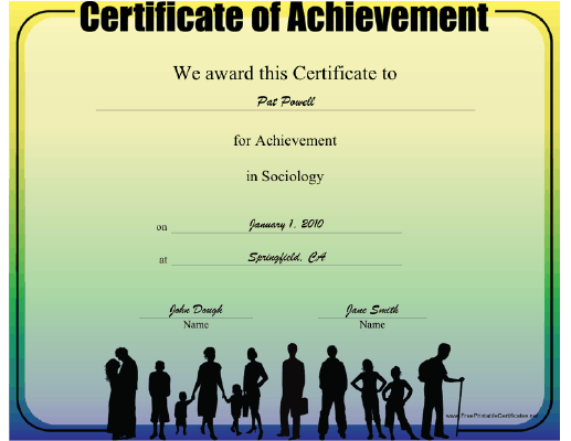 Sociology certificate