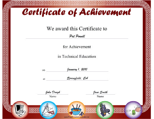 Technical Education certificate