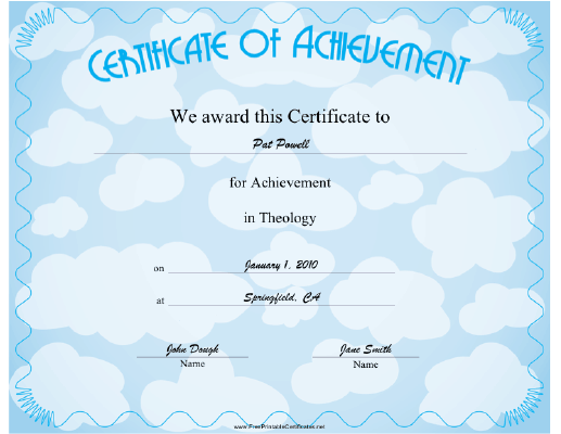 Theology certificate