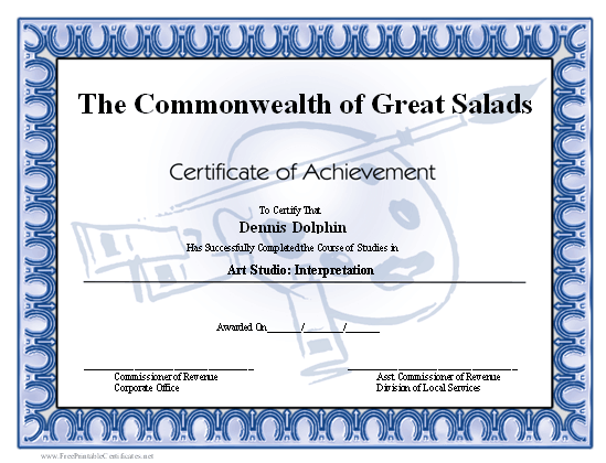 Achievement - Art certificate