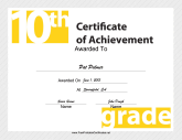 10th Grade Achievement
