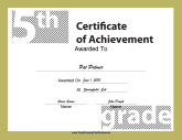 5th Grade Achievement