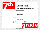 7th Grade Achievement