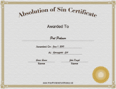 Absolution of Sin