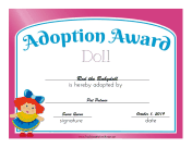 Adoption Award Doll