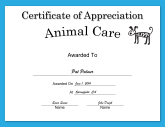 Animal Care Appreciation Dog