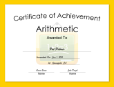 Arithmetic Achievement
