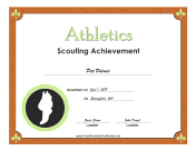 Athletics Badge certificate