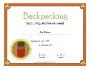 Backpacking Badge certificate