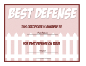 Best Defense Award