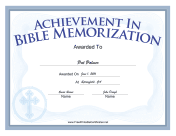Bible Memorization Cross