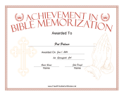 Bible Memorization Prayer