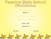 Vacation Bible School Attendance