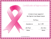 Breast Cancer Fight Ribbon