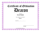 Ordination Deacon