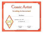 Comic Artist Badge certificate
