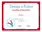 Design Robot Badge certificate