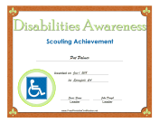 Disabilities Awareness Badge