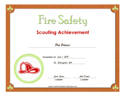 Fire Safety Badge certificate