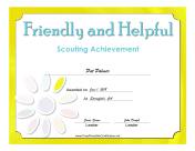 Friendly And Helpful Badge