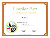 Graphic Arts Badge certificate