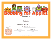 Halloween Bobbing for Apples