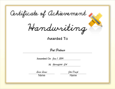 Handwriting Achievement