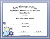 Jewish Baby Boy Naming