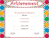 Achievement in Kindergarten