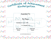 Kindergarten Achievement