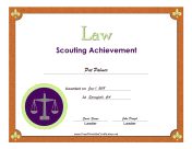 Law Badge certificate