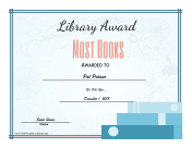 Library Award Most Books