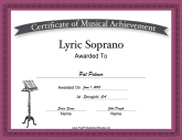 Lyric Soprano Vocal Music