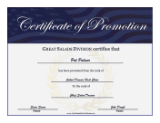 Military Promotion Certificate