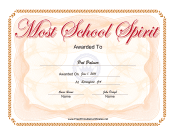 Most School Spirit Yearbook Award
