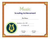 Music Badge certificate