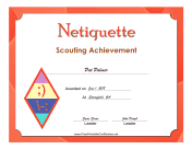Netiquette Badge certificate