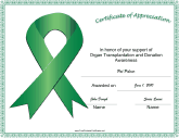 Organ Transplantation Donation Awareness Ribbon