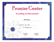 Promise Center Badge certificate