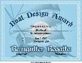 Raingutter Regatta Design Award