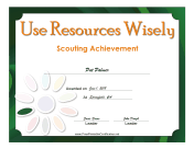 Resources Badge certificate