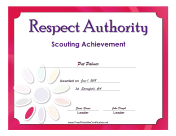 Respect Authority Badge certificate