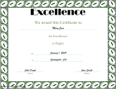 Excellence in Rugby