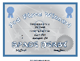 Space Derby 3rd Place