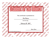 Student Of The Month February