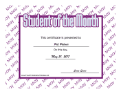Student Of The Month May
